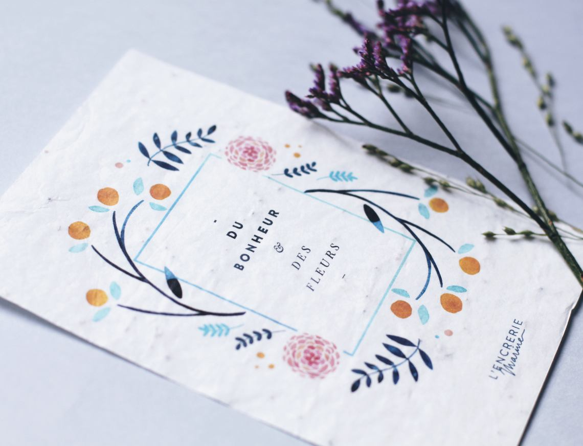 carte postale à planter
