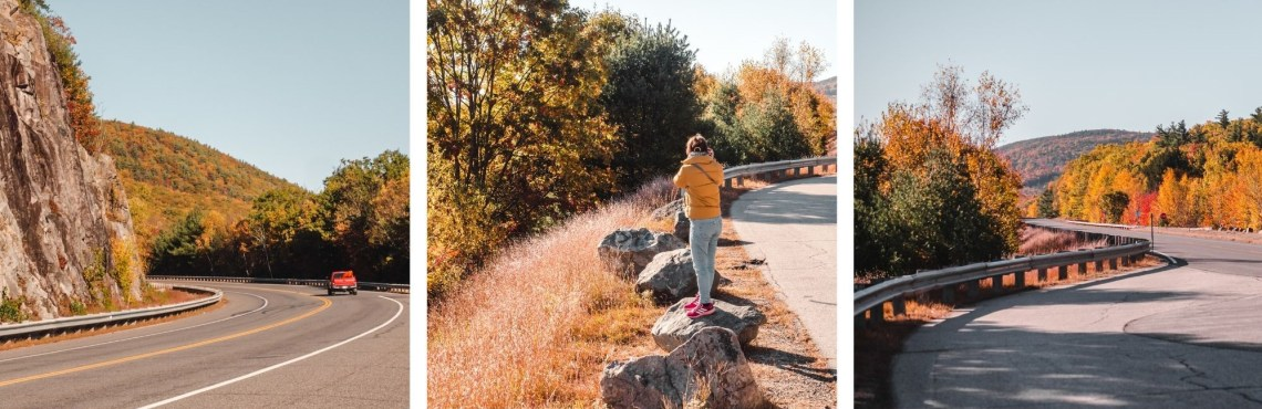 new hampshire hiking at fall