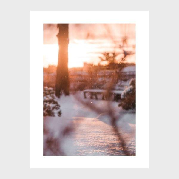 photo print coucher de soleil neige