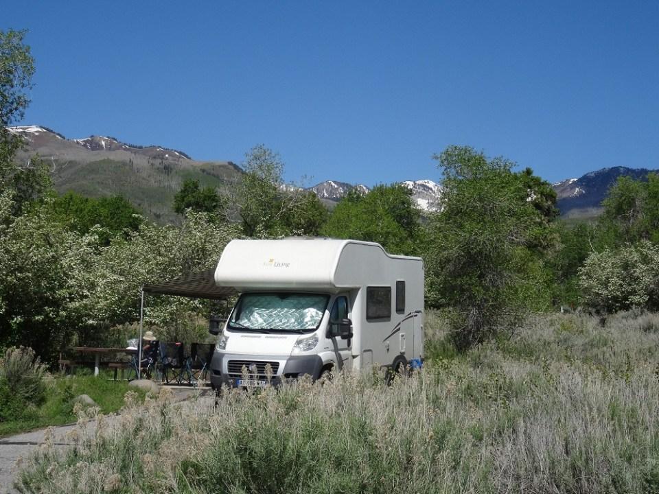 Camping dans le nord de l'Utah