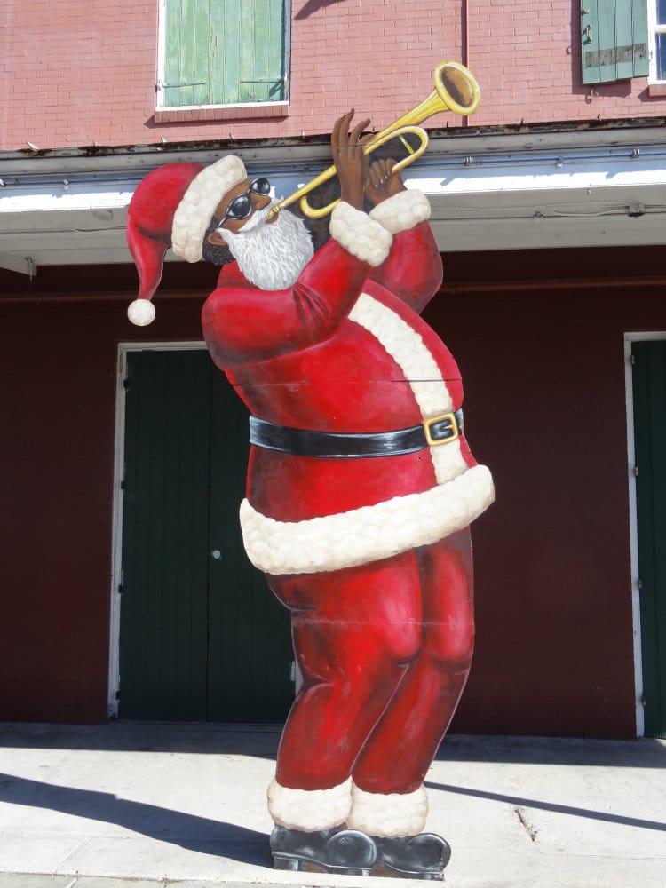 Même le père Noël joue du jazz à la Nouvelle Orleans