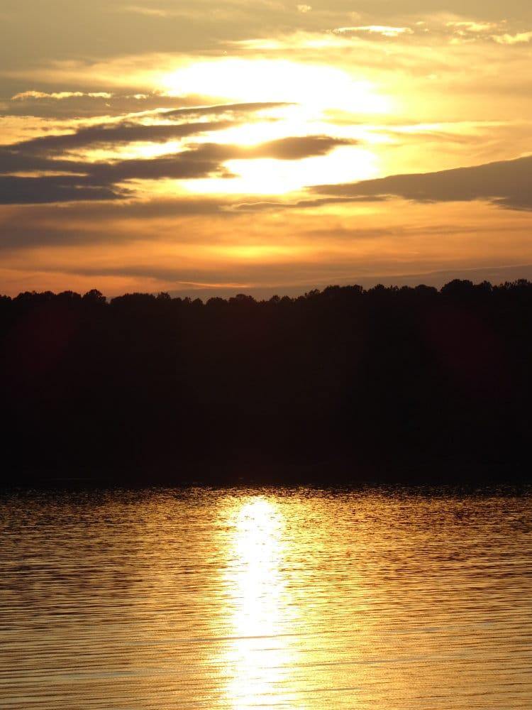 Coucher de soleil sur les lacs de Dreher Island