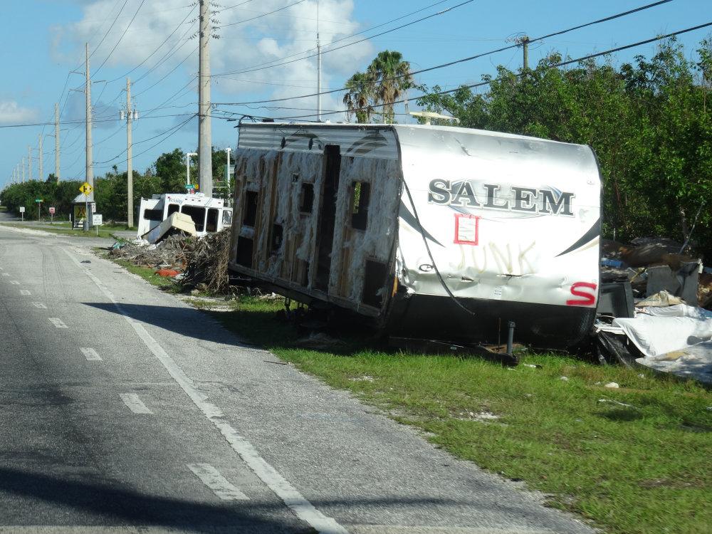 Mobilhome et autres caravanes ont tous été anéantis par l'ouragan