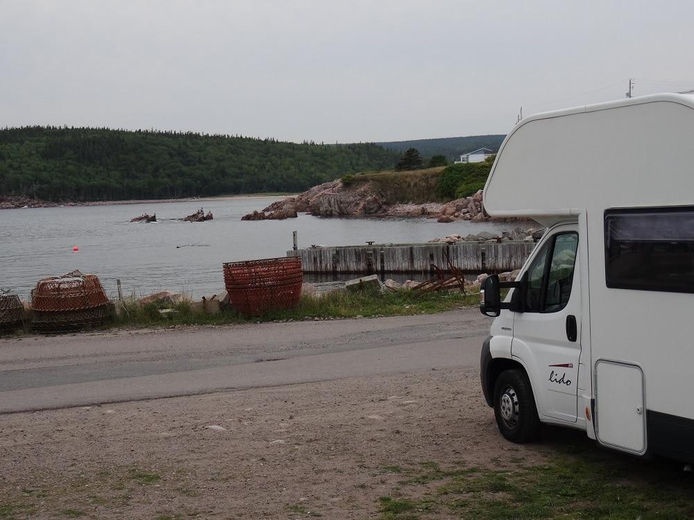 Bivouac tranquille sur l'île du Cap Breton