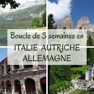 Les Alpes en Italie Autriche Allemagne camping-car