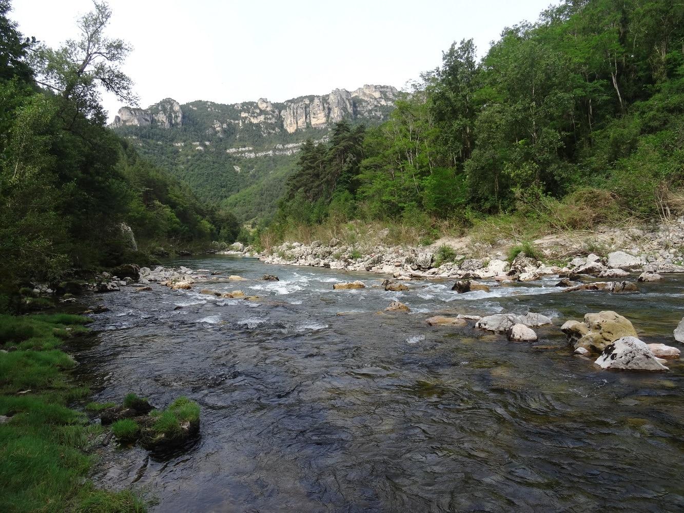 Fin du chemin de randonnée à la Sablière, Gorges du Tarn