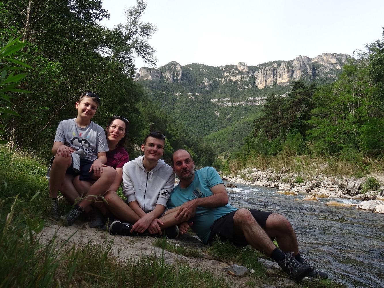 En famille dans les gorges du Tarn