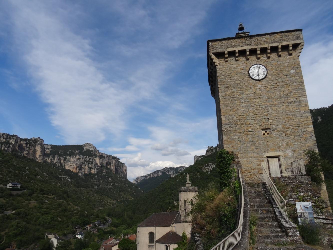Village de Peyreleau, au dessus du Rozier, pour admirer les gorges du Tarn