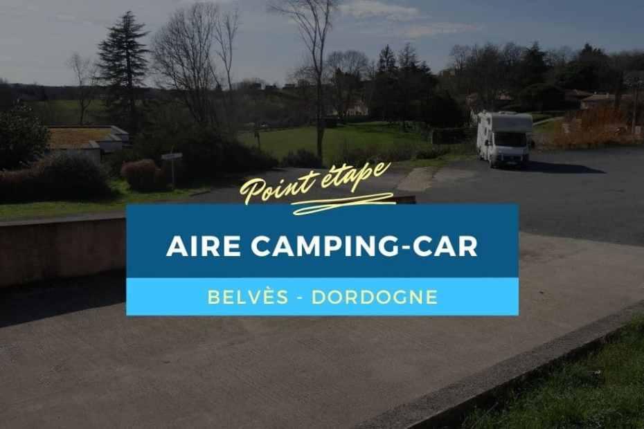 Aire camping-car de Belvès (Dordogne)