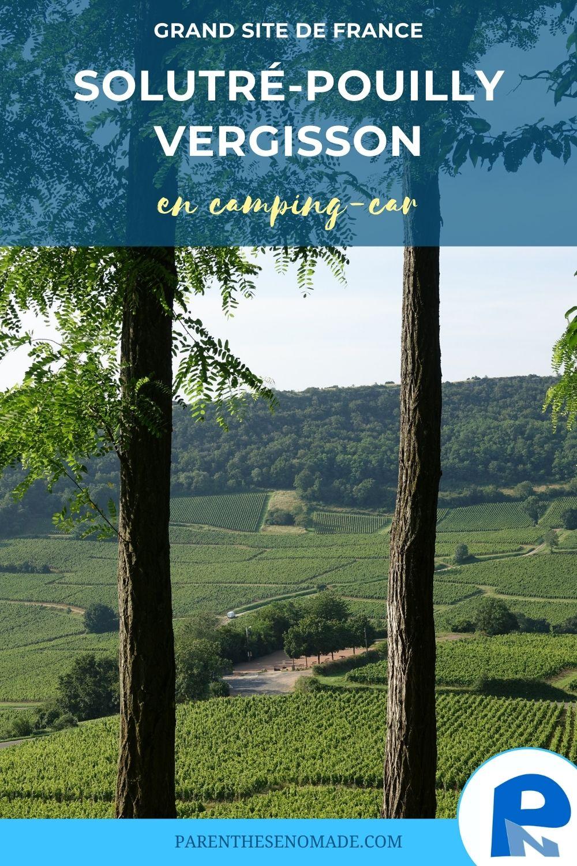 Visiter le Grand Site de France de Solutré-Pouilly-Vergisson en camping-car