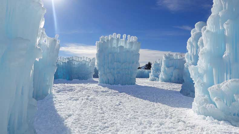 Parenthood and Passports - Ice Castles Colorado