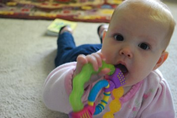 Baby Chewing on toys
