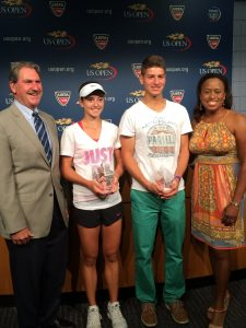USTA 2014 Junior Sportsmanship Award Winners