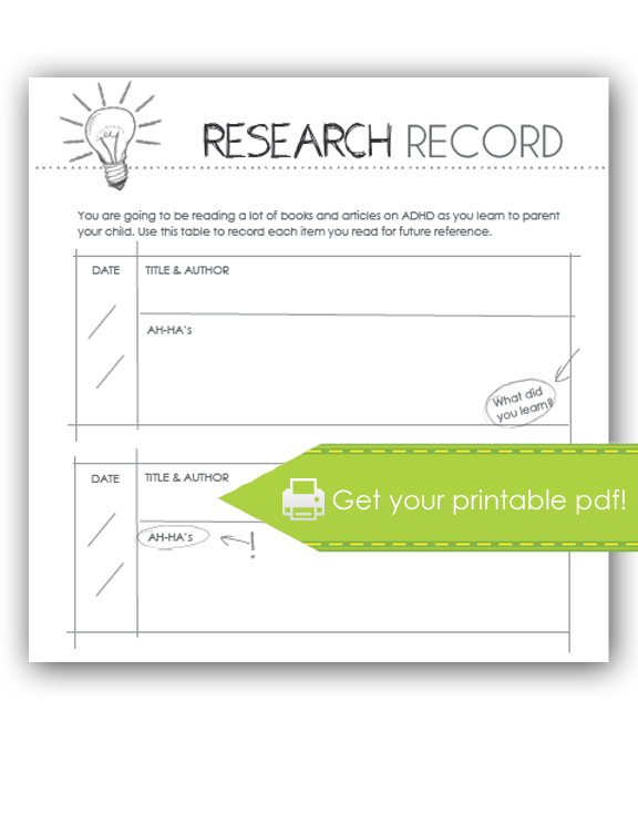 research record print