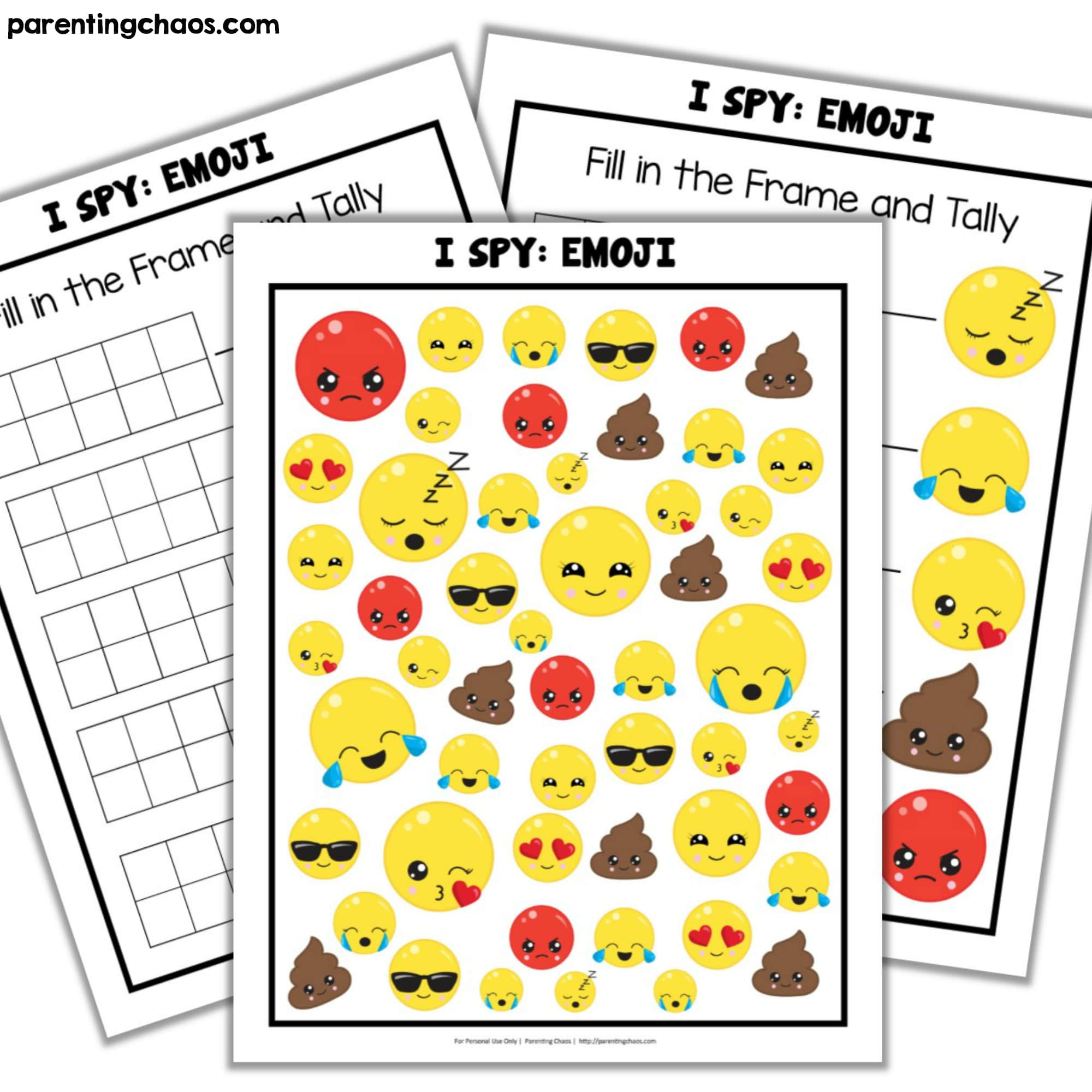 Graphing Emojis Worksheet