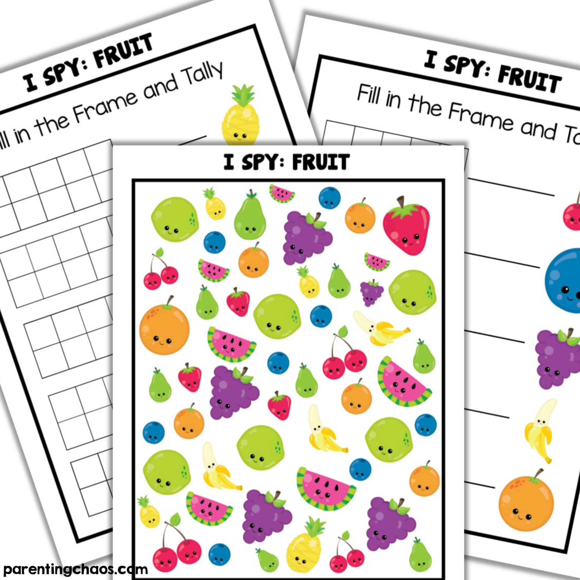 Fruits I Spy Printable Parenting Chaos