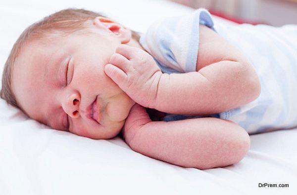 Newly born baby sleeping