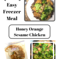 Quick and Easy Freezer Meal! Make Ahead Sesame Orange Honey Chicken, Yummy meal!