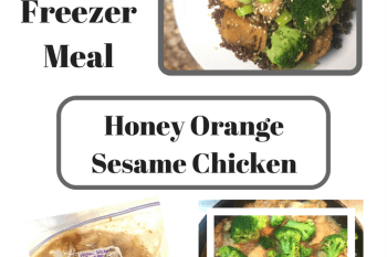 Freezer Meal: Honey Orange Sesame Chicken and Broccoli