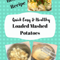Quick, Easy and Healthier InstaPot Pressure Cooker or Stovetop Loaded Mashed Potatoes. Pin for later!