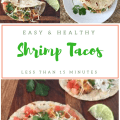 Quick and Easy Shrimp Tacos. Make in less than 15 minutes for a healthy family meal your family will rave about. Great for Taco Tuesdays!