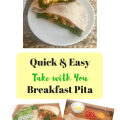 Try something different for breakfast. Healthy and easy Breakfast Pita.