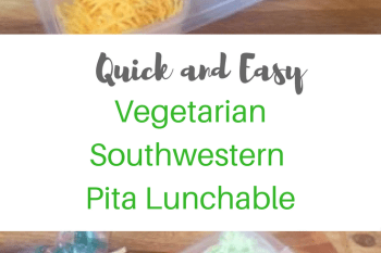 Quick and Easy Vegetarian Southwest Lunch Pita