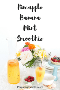 PineappleBananaMintSmoothie 200x300 Pineapple Banana Mint Smoothie