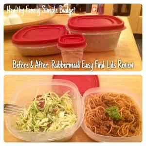 Before and After Rubbermaid Easy Find Lids Review | Parenting from the Heart