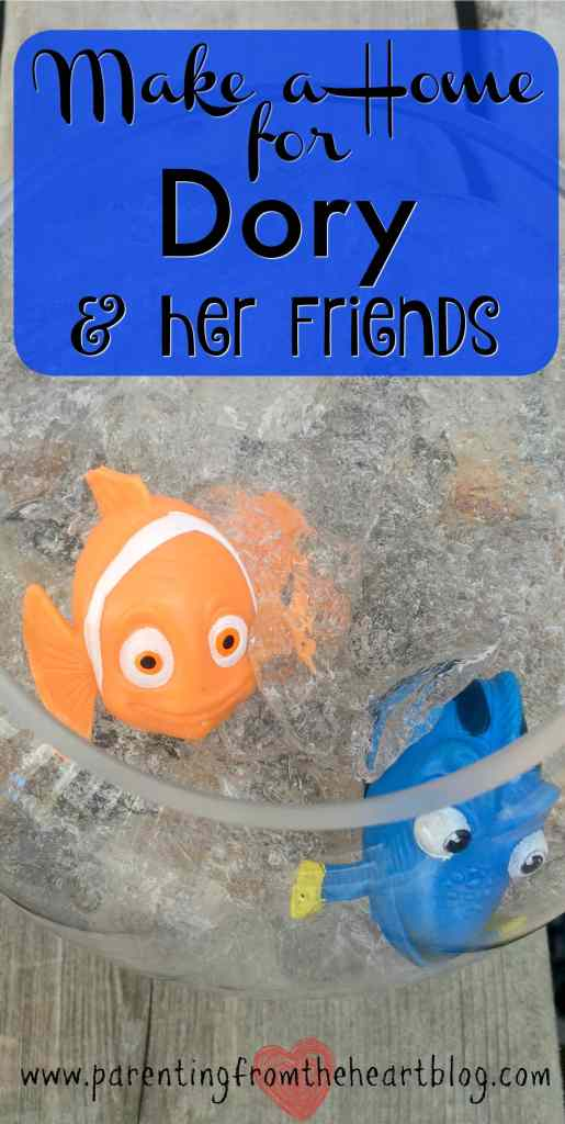 Celebrate Finding Dory with this super simple Finding Dory activity. This activity is perfect for a Finding Dory birthday party, for party favours, or just for fun! Create a home for Dory and her friends while engaging your kids in scientific discovery and sensory play!
