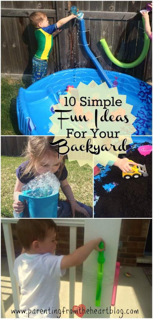Bust summer boredom with these simple fun backyard ideas for kids, rooted in play-based learning and SUPER budget friendly