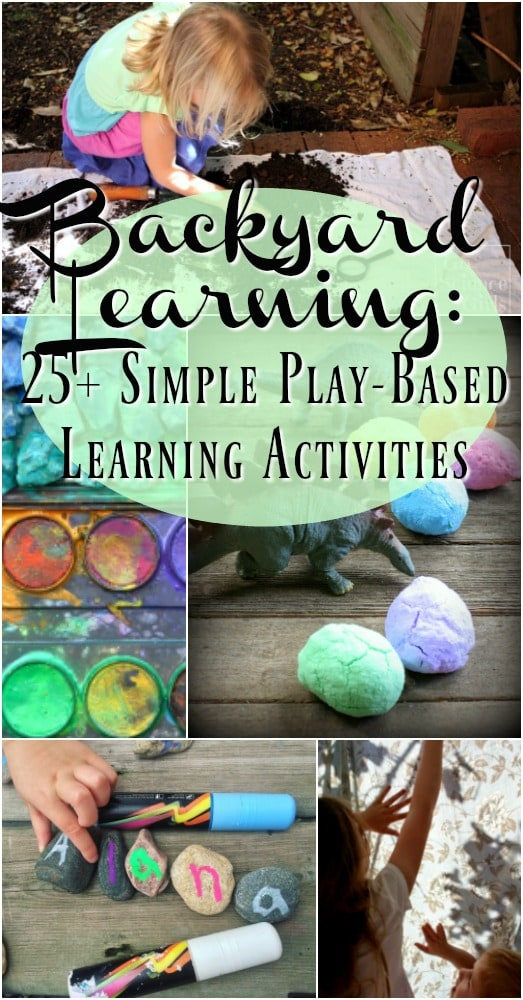 Backyard learning is easy, cost effective and SO much fun!!! In fact your children will benefit more from backyard learning than sitting at a desk with a paper and pencil. Promote numeracy, addition, subtraction, multiplication, geometry, and symmetry using these kids activities. Great for play-based learning. Learning through play. Early childhood education.