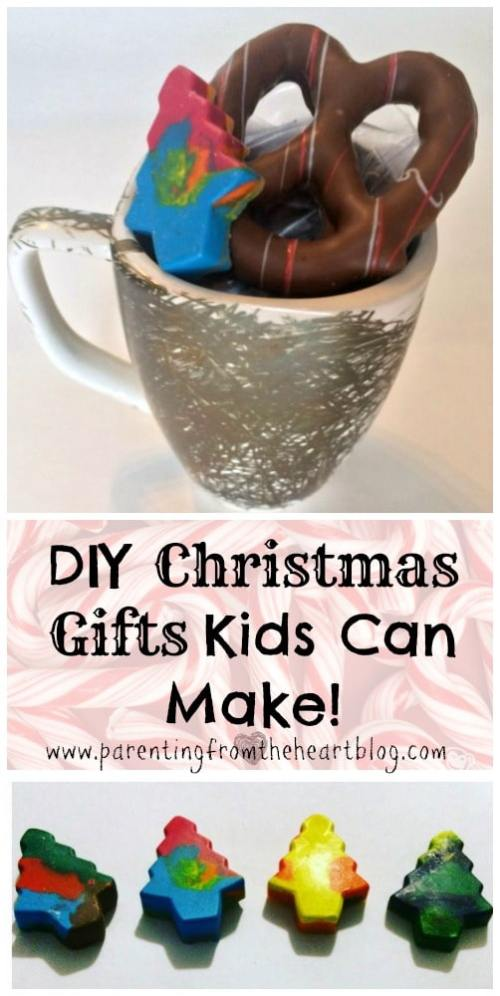 DIY Christmas Gifts kids can make with minimal help. Everything is easy to set up too and fun! Holiday gifts