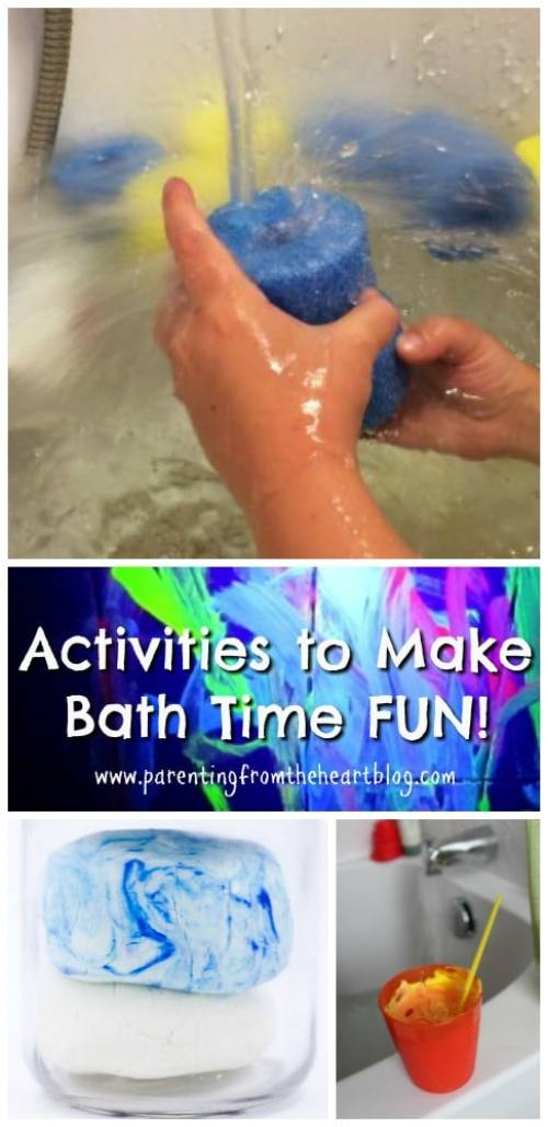 If bath time has become a source of tears or if your kids are resisting bath time, check out these fun bath time activities for kids. Make your own paint, bath crayons, create sensory bin type ideas and so much more. Great for play-based learning!