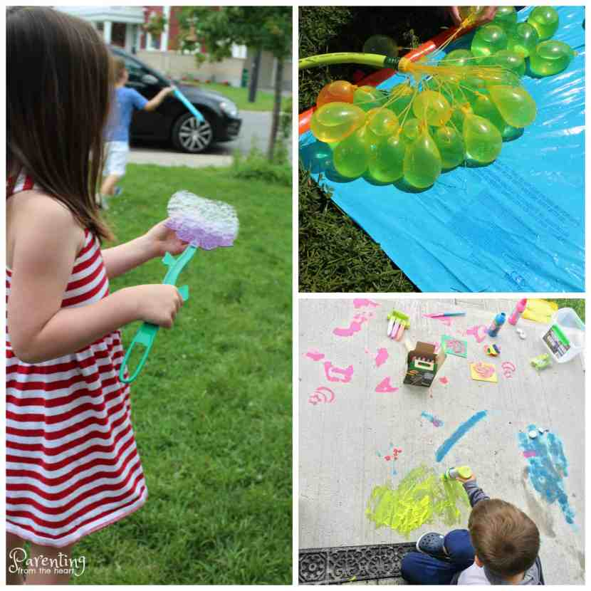 front yard or the park. They are low or no prep, easy and perfect to invite the neighbourhood kids to join in the fun!