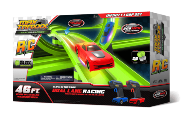 MaxTraxxx Tracer Racers Remote Control Infinity Loop Set