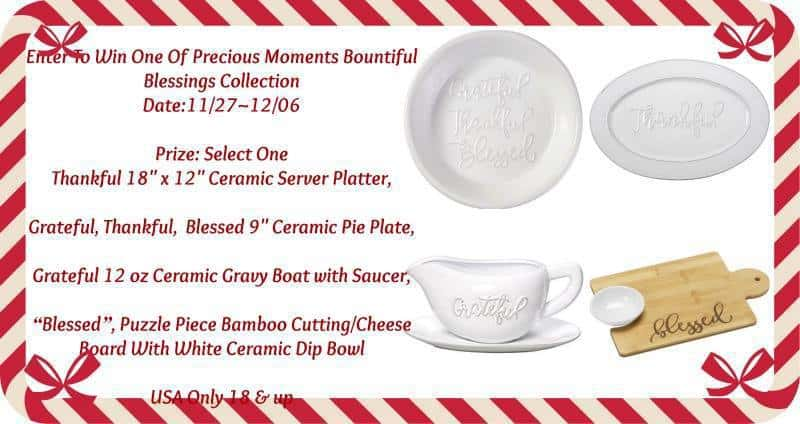 Precious Moments Bountiful Blessing Piece Giveaway