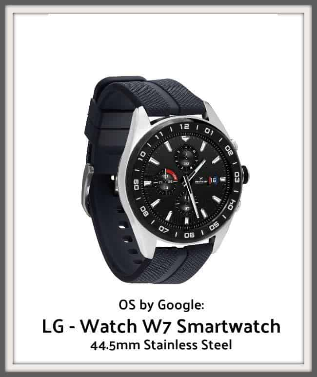 OS by Google: LG - Watch W7 Smartwatch 44.5mm Stainless Steel