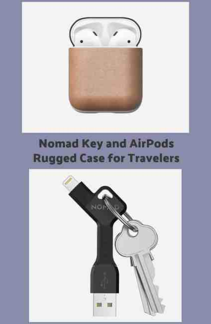 Nomad Key and AirPods Rugged Case for Travelers