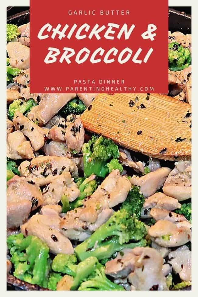 Garlic Butter Chicken & Broccoli Pasta - Recipe
