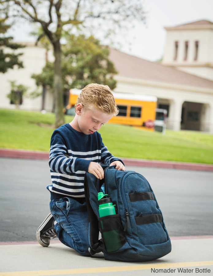 Send the kids to school with Nomader® Collapsible Water Bottle