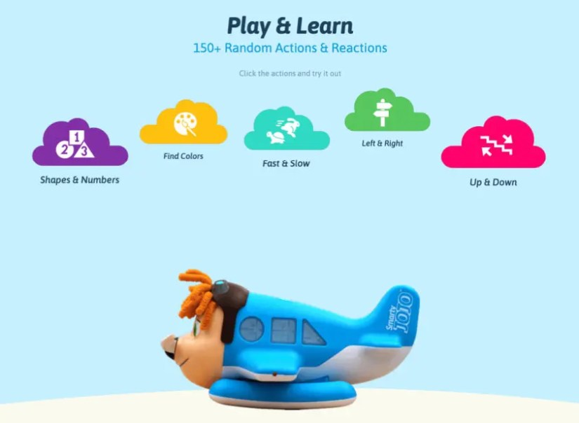 Smarty JOJO Toy teaches directions, shapes, colors and opposites with Play