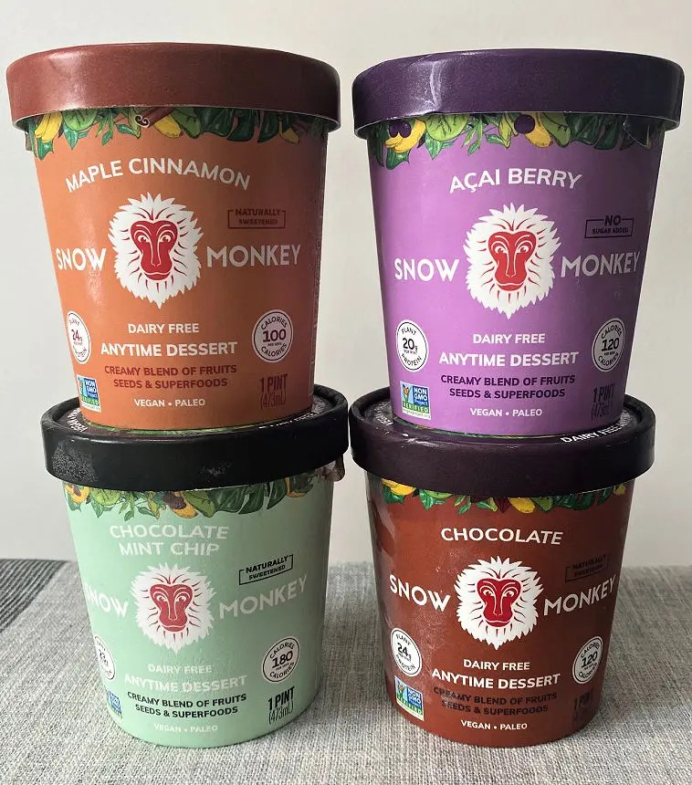 Snow Monkey Anytime Desserts creamy blend of fruits, seeds, and superfoods