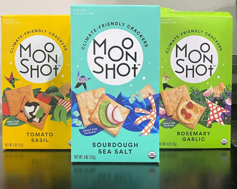 Moonshot crackers are made with regeneratively grown ingredients