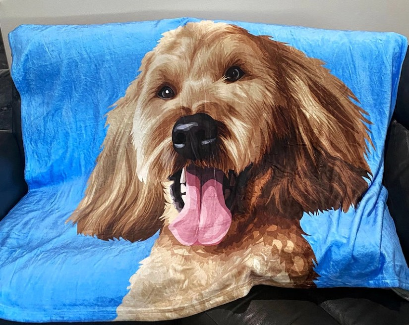 Custom Pet Print Fleece Blanket from Impersonate Me