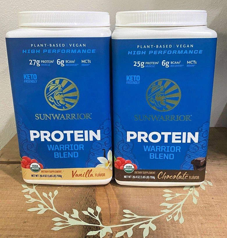 Sunwarrior Warrior Blend Organic plant-based protein with BCAA's