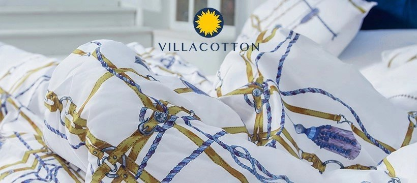 Wake up to Cheerful Designs with the soft Villa Cotton luxury bed linen
