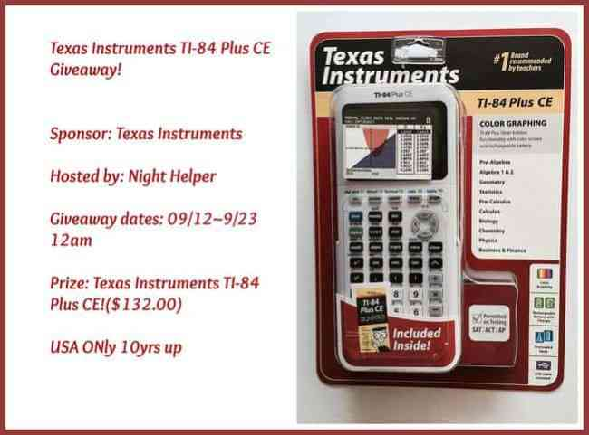 Texas Instruments TI-84 Plus CE! Giveaway