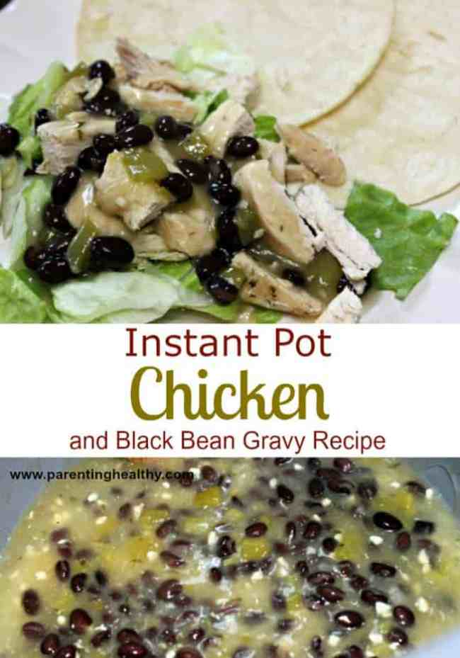 Instant Pot Chicken and Black Bean Gravy Recipe