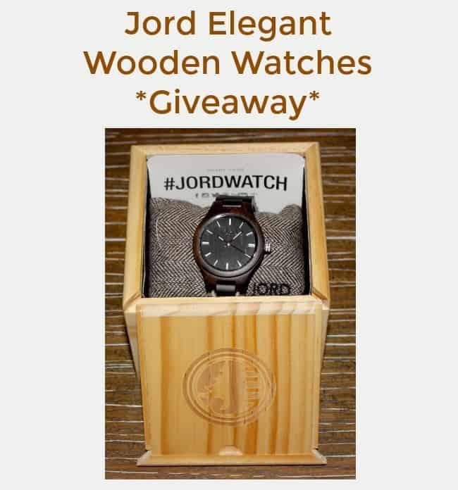 Jord Elegant Wooden Watches Giveaway